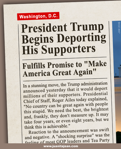 Mock news headline: