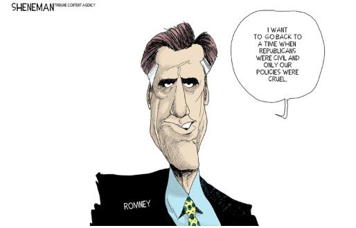 Mitt Romney saying,