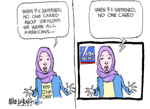 Frame One:  Rep. Ilhan Omar says,